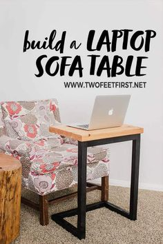 Are you wanting a laptop desk you can use on the couch? Here is a tutorial on how to build a DIY sofa laptop table for the couch. Plus this would be a fantastic Christmas gift idea! Are you wanting a la Diy Laptop Stand, Laptop Table, Laptop Desk, Couch Table, Sofa Side Table, Diy Sofa, Portable Desk, Diy Desk, Beach House Decor