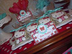 "Photo 10 of 32: Hello Kitty Red, Pink & Aqua / Birthday ""Hello Kitty 7th Birthday"" | Catch My Party"