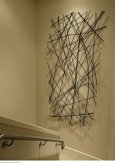 Wall Art Design, twigs.....I could do this...start looking for nice twigs this spring