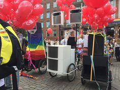 Bliss festival bike ballooned and ready for pride parade Copenhagen