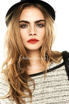 { bold brows / bold lip }