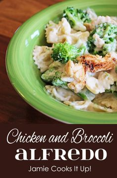 Chicken Broccoli Alfredo I Jamie Cooks It Up!