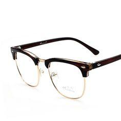 bf6fc715b692c Barato 2017 Hot Retro Óculos para homens transparente óculos de Leitura  Óptica Óculos Óculos Armação unissex