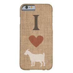 I Love Goats Rustic Burlap Phone Case #iphone