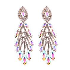 d6c302a3d Holylove 5 Colors Chandelier Earrings Crystal Rhinestone for Bridal Wedding  Novelty Fashion Jewelry 1 Pair with Gift Box