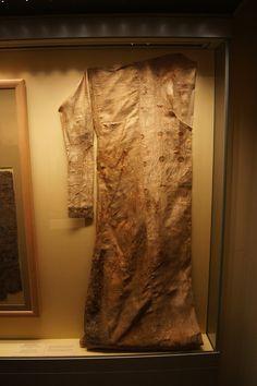Hermitage.  Moshchevaya Balka.   Woman's silk samite coat.  North Caucasus. Adygo-Alanic culture. 8th-9th century.