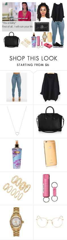 """Untitled #248"" by swaavvyya ❤ liked on Polyvore featuring WithChic, Tiffany & Co., Givenchy, Victoria's Secret, Goldgenie, Forever 21, POLICE, Rolex, Ray-Ban and Retrò"