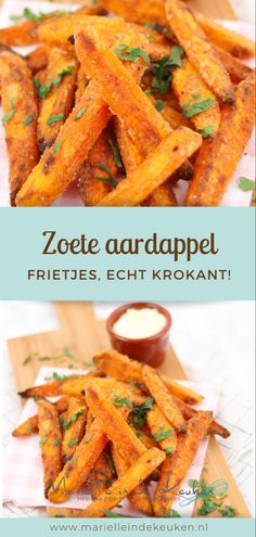 Really crispy sweet potato fries - The recipe for really crispy sweet potato fries potato fries - I Love Food, Good Food, Yummy Food, Vegetarian Recipes, Cooking Recipes, Healthy Recipes, Chili Sin Carne, Crispy Sweet Potato, Food Inspiration