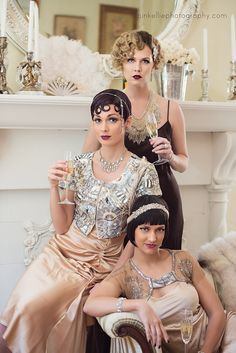 Great Gatsby Glitz and Glamour Girls Fashion Editorial Photography| Pinup Girl http://thepinuppodcast.com features pinup models and pin up photographers.