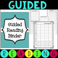 Guided Reading Binder - Reading Groups and Literacy Workstations This set will help you create a guided reading binder that will keep you organized. It is a great set to help you plan, organize, and implement guided reading in your classroom. This is my best seller and has been a TPT Top 100 Product!