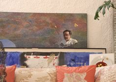 Painting featuring Ferran stored against a wall at elBulli, Dec. 4, 2010. Photograph by Gerry Dawes©2010. Contact gerrydawes@aol.com.
