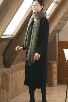 847c9cd08a2 Black Wool Long Women Sweater Dress Outfit Elegant Knit Dresses Q2691 Sweater  Dress Outfit