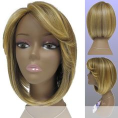 OCENA Vivica A Fox  Synthetic Full Wig in 1B -- Check this awesome product by going to the link at the image.