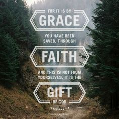For it is by grace you have been saved, through faith – and this is not from yourselves, it is the gift of God. - Ephesians 2:8
