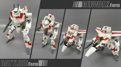Hermoso modelo del Valkyrie de Robotech.