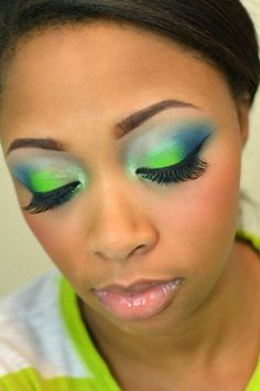 Seattle Seahawks Makeup Tutorial