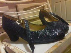 Glitterized Folklorico Dance Shoes