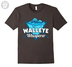 Mens Funny Fisherman Walleye Whisperer T-shirt Small Asphalt - Funny shirts (*Amazon Partner-Link)