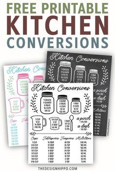 Measurement Conversion Chart, Kitchen Conversion Chart, Kitchen Measurements, Cricut Craft Room, Amai, Kitchen Wall Art, Printable Wall Art, Making Ideas, Free Printables