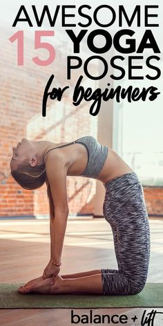 15 Awesome Yoga Poses For Beginners - Yoga Poses for Fun & Fitness - Workout Yoga Fitness, Fun Fitness, Fitness Motivation, Fitness Tips, Quick Weight Loss Tips, Yoga For Weight Loss, How To Lose Weight Fast, Reduce Weight, Losing Weight