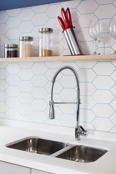 Live In Style, Kitchen Utensils, Wall Tiles, Future House, Sink, Shelves, Architecture, Inspiration, Design