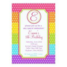 Pop Candy Birthday Invitations