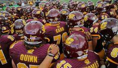 . Central Michigan, Football Helmets