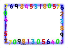 Maths-Themed Page Borders – Landscape Borders For Paper, Borders And Frames, Math Border, Page Boarders, Bulletin Board Borders, Page Borders Design, Scrapbook Frames, Clip Art, Math Numbers