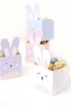 printable easter bunny boxes Delight your kids and friends with these DIY printable easter bunny treat boxes!Delight your kids and friends with these DIY printable easter bunny treat boxes! Easter Crafts For Kids, Diy For Kids, Diy Easter Gifts For Friends, Summer Crafts, Fall Crafts, Friend Crafts, Bunny Party, Bunny Birthday, Diy Birthday