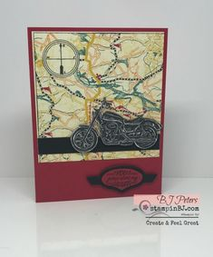 Stampin' Up! Masculine Birthday Cards, Birthday Cards For Men, Man Birthday, Masculine Cards, Horse Cards, Classic Trucks, Classic Cars, Chevy Classic, Stamping Up Cards