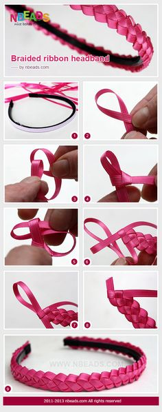 #diy braided ribbon headband