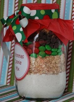 Christmas Cookie Mix in a Jar Print Dig-in cal Calories...