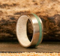 Golden In Ironwood Antler A 14k White Gold Inlay Wedding Band Available Anium Silver Black Zirconium Rose Or Yellow