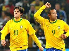 Kaká and Luis Fabiano