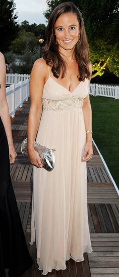 September 10, 2008  The Royal Wedding wasn't the first time Pippa stunned in an elegant design. Here, she wore a beaded ivory gown for The Royal Parks Charity Gala in London