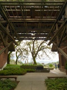 The grand entrance at Joseph Phelps #Vineyards - a #winery to see for the interiors, views, architecture, and the wine