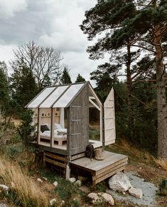 Glass Cabins in the Forest, Sweden - Along Dusty Roads Tiny House Cabin, Tiny House Living, Glass Cabin, Glass House, Cabin Plans, Cabins In The Woods, Little Houses, Play Houses, Glamping