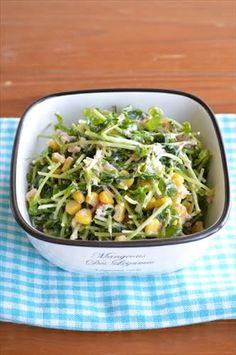 豆苗とツナの 和風コールスローサラダ ☆ - 四万十住人の 簡単料理ブログ! Sprouts, Green Beans, Cabbage, 150g, Salad, Vegetables, Cooking, Recipes, Food