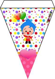 banderin-de-plim-plim-para-descargar-moldes-plim-plim-payaso-kits-d-plim-plim-cumpleanos-gratis-ideas-fiesta-plim-plim Ideas Decoracion Cumpleaños, Ideas Para Fiestas, 3rd Birthday, Happy Birthday, Playing Cards, Banner, Party, Diy, Tangram