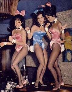 Bunny Girls dancing on tables