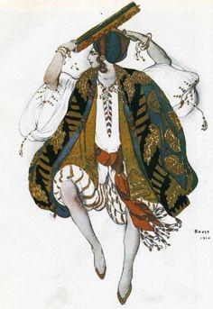 Costume Sketch: Leon Bakst - WikiPaintings.org