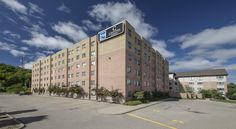 Residence & Conference Centre - Kitchener-Waterloo Kitchener Residence & Conference Centre - Kitchener-Waterloo is located on the campus of Conestoga College in in Kitchener, Ontario.  This alternative hotel features private two-bedroom suites and traditional hotel rooms.