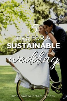 Sadly, weddings can have many environmental repercussions, and that's why it's important to try and keep these wonderful occasions as eco-friendly as possible. Here are five tips you can follow to make sure your wedding is sustainable. #greenliving #greenparenting #ecofriendly #sustainability #gogreen #naturalliving #climatechange #wedding #moneysavers #savingmoney