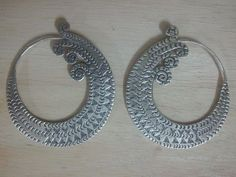 Endless folwer Hoop Earrings V3 Silver Hand Made Karen Hill Tribe from Thailand, Sterling silver hoop earrings