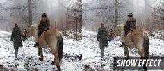 Snow Photo Effect - Photoshop Images