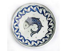 128 - Erken Osmanlı Kase Turkish Tiles, Turkish Art, Ceramic Plates, Ceramic Art, Traditional Tile, Plate Art, Tile Art, Diy And Crafts, Stencils