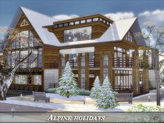 Luxury modern home. Found in TSR Category 'Sims 4 Residential Lots'