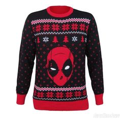Deadpool Christmas Sweater   Read More: http://www.deadpoolbugle.com/2016/11/deadpool-christmas-sweater.html