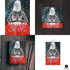 Totem Red Available as posters, notebooks, coasters, greeting cards, post cards and laptop skins on https://goo.gl/LBVntZ