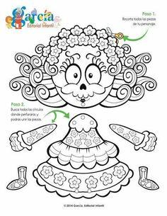 Dia de Los Muertos paper doll decoration